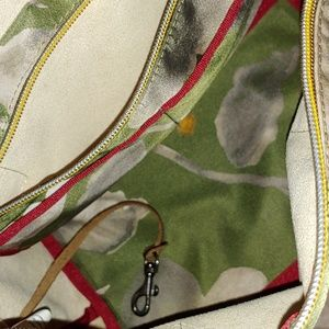 Small satchel bag hunter green/off white